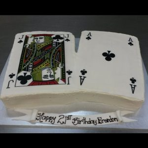 custom cakes brisbane with casino theme