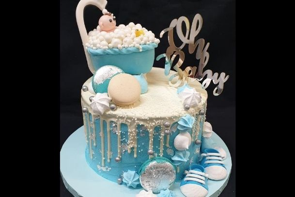 baby shower custom cake brisbane south