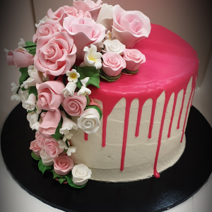 pink drip cake brisbane