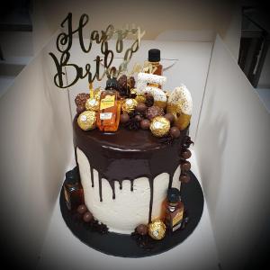 alcohol drip cake