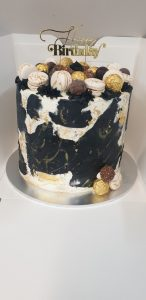 marble effect stacked cake