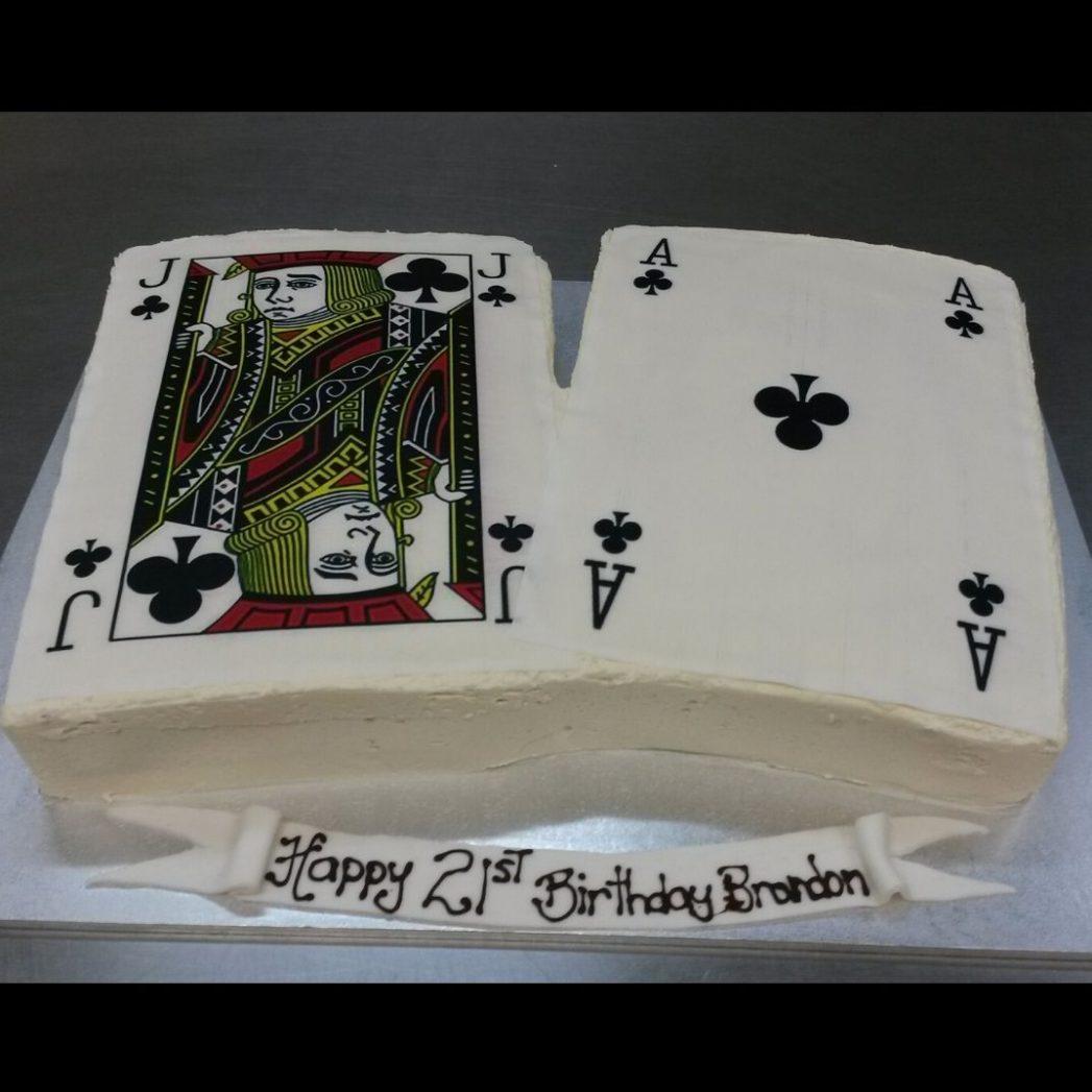 custom cakes brisbane with casino theme