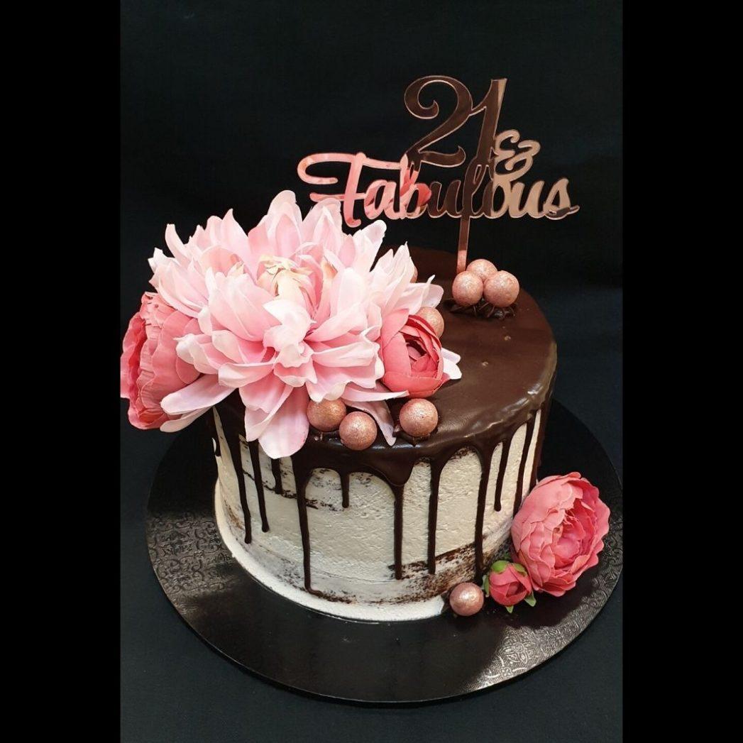 21st birthday ganache cake brisbane