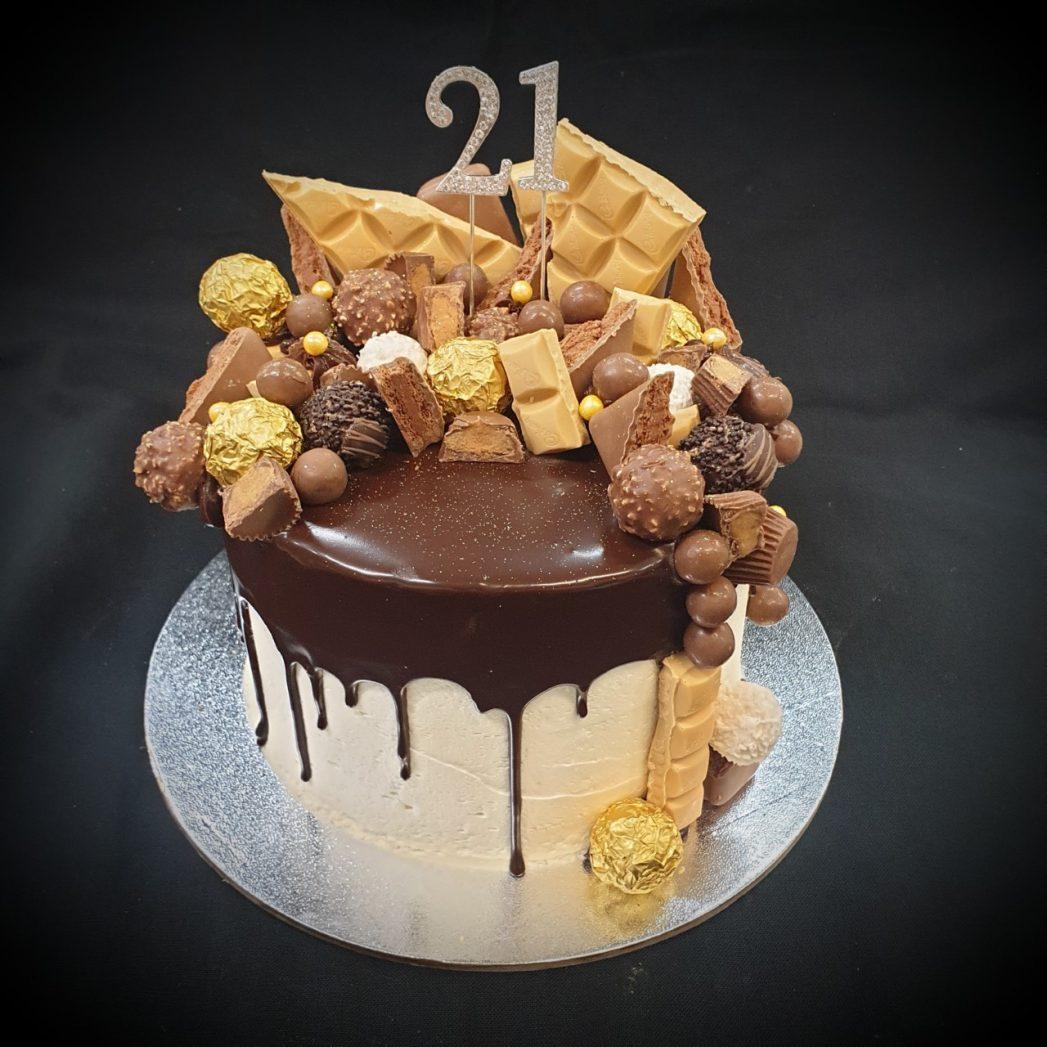 caramilk chocolate drip cake brisbane